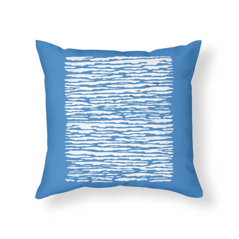 Journey to Summer Home Throw Pillow by bulo