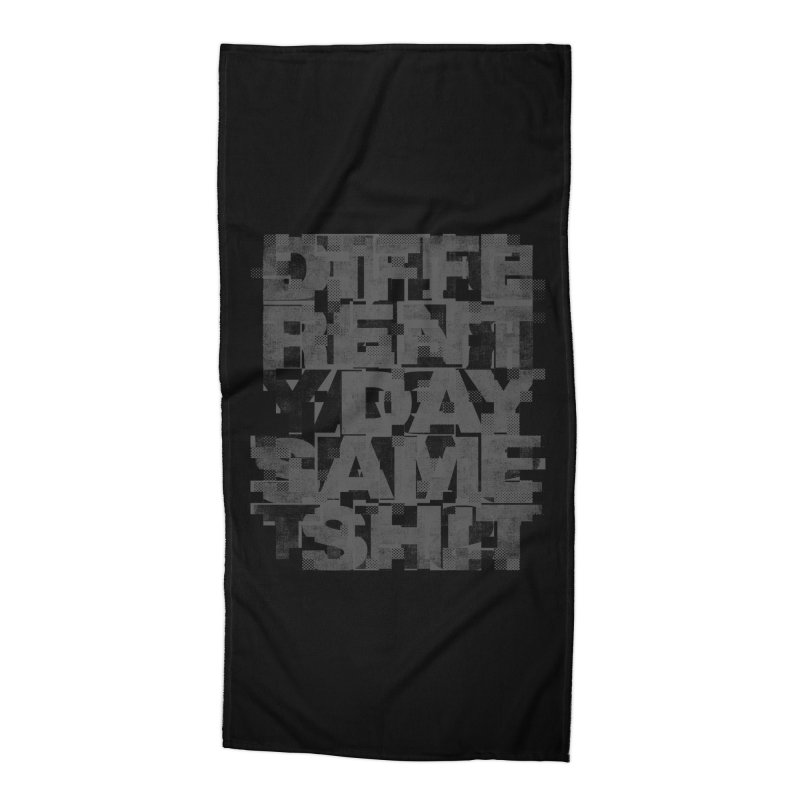 Same Shit Accessories Beach Towel by bulo