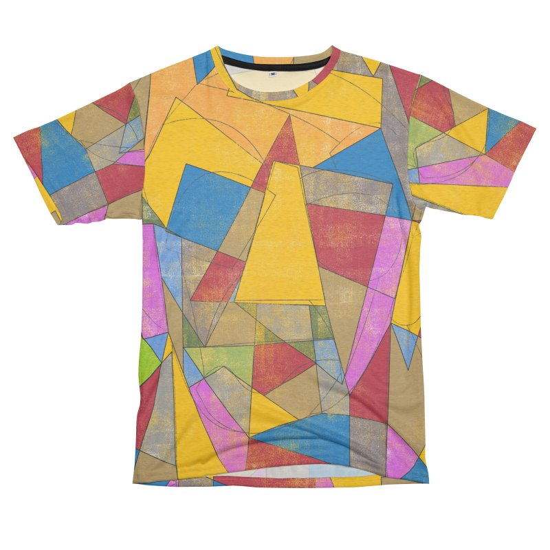 Picasso's face Men's French Terry T-Shirt Cut & Sew by bulo