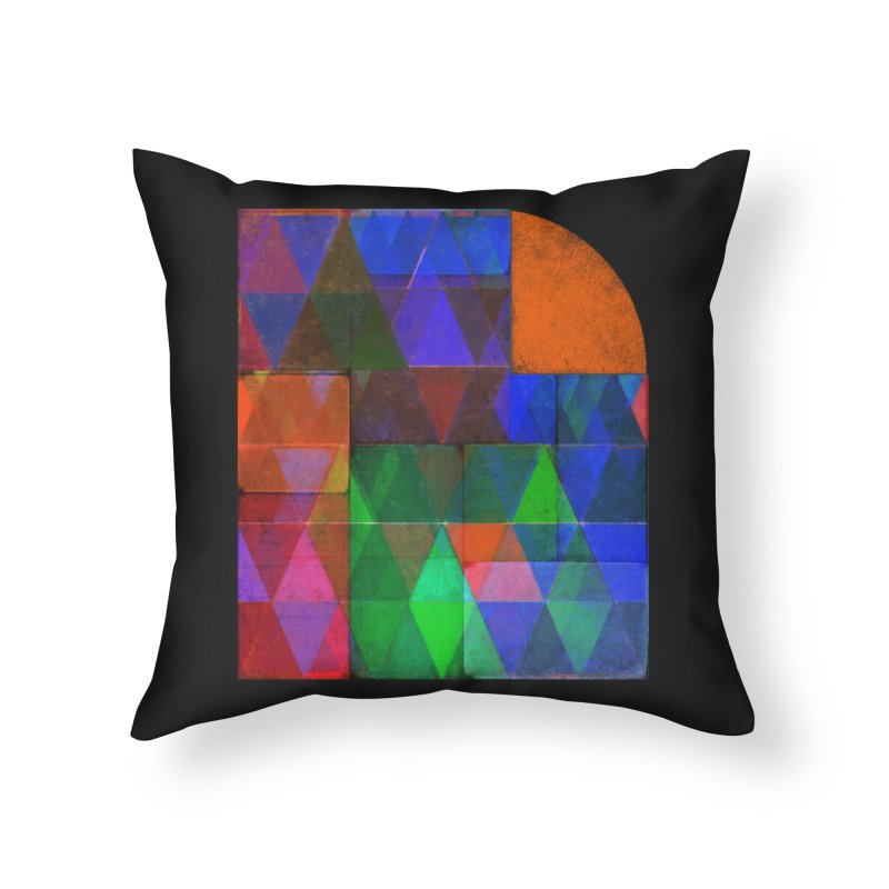 Sunrise Bauhaus Home Throw Pillow by bulo