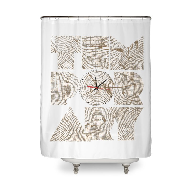Temporary Home Shower Curtain by bulo
