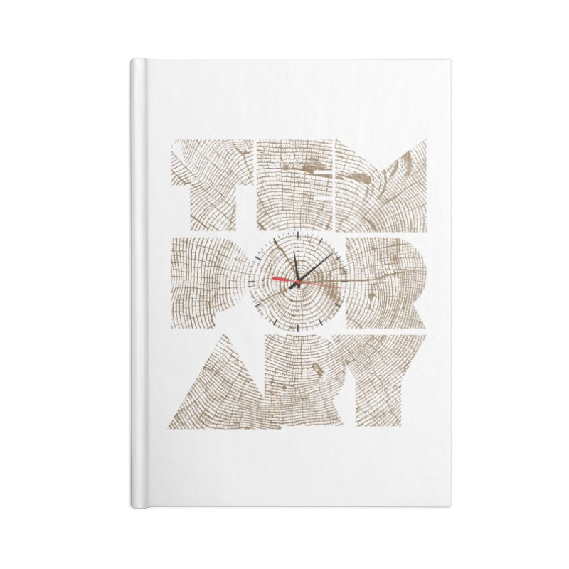 Temporary Accessories Lined Journal Notebook by bulo