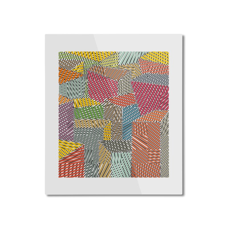 Architexture remix Home Mounted Aluminum Print by bulo