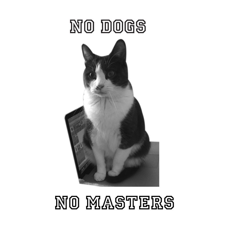 No Dogs No Masters Accessories Bag by bumsesh's Artist Shop