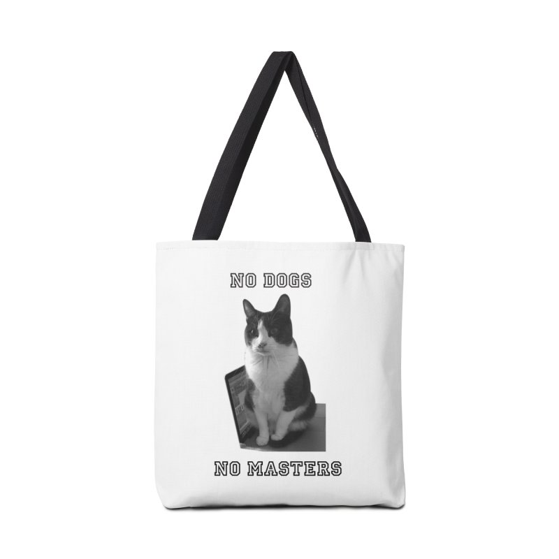 No Dogs No Masters in Tote Bag by bumsesh's Artist Shop