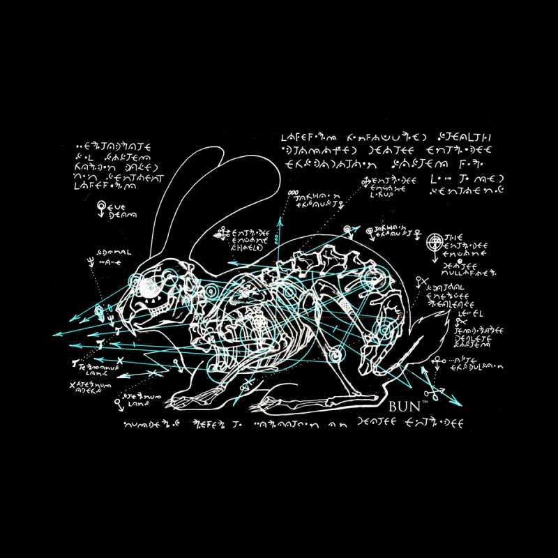 Bun™ Skeletal Diagram - Black by Bun™ Comic's Artist Shop
