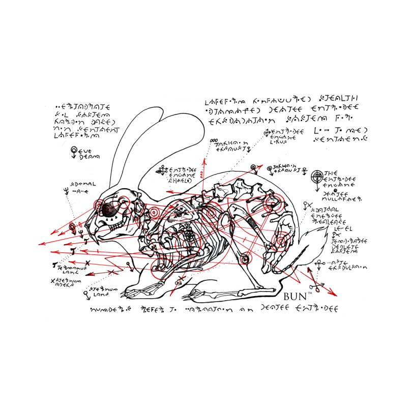 Bun™ Skeletal Diagram - White by Bun™ Comic's Artist Shop