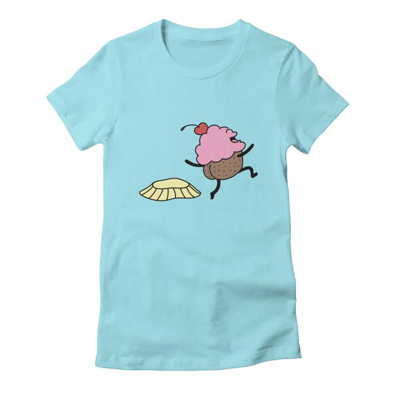 Naked Cupcake Women's Fitted T-Shirt by Buni