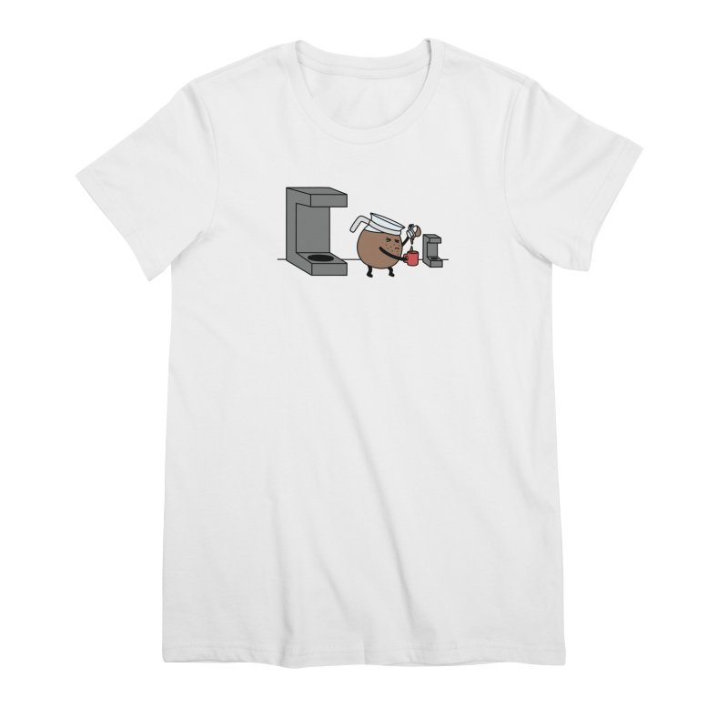Little Coffee Women's Premium T-Shirt by Buni