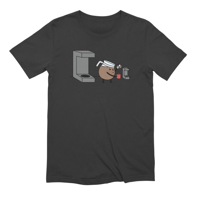 Little Coffee Men's Extra Soft T-Shirt by Buni