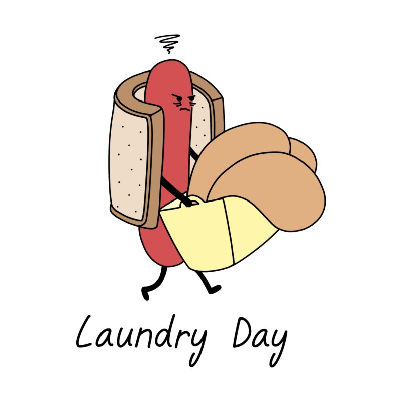 Laundry Day Men's T-Shirt by Buni