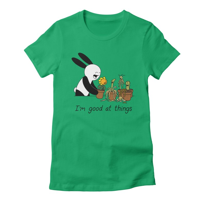 I'm Good at Things Women's Fitted T-Shirt by Buni