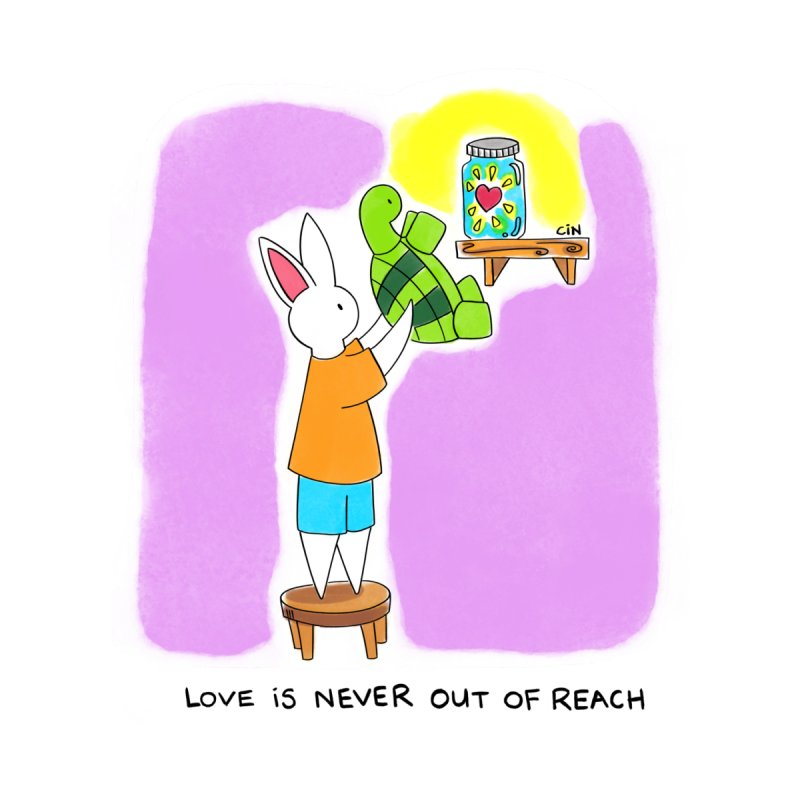 Love Is Never Out Of Reach by Bunny Daze's Artist Shop
