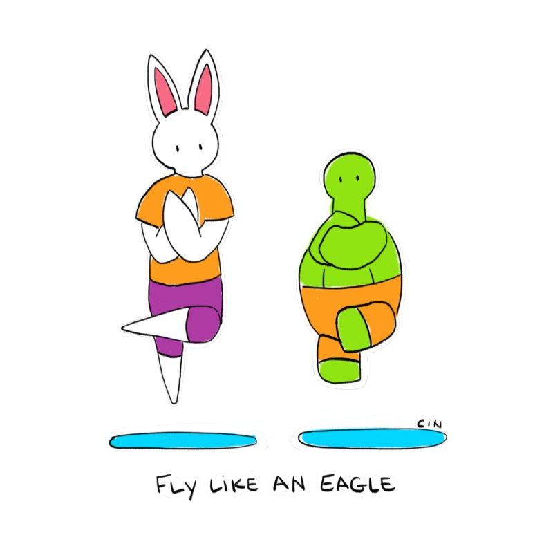 Yoga - Fly Like An Eagle by Bunny Daze's Artist Shop