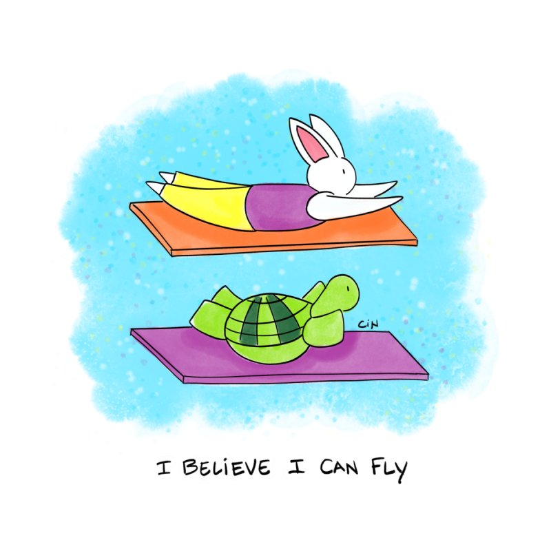 Yoga - I Believe I Can Fly by Bunny Daze's Artist Shop