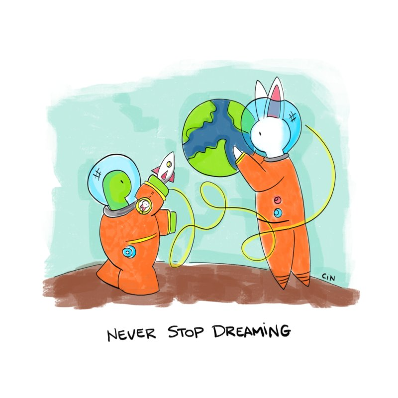 Bunny Daze Happiness - Never Stop Dreaming by Bunny Daze's Artist Shop