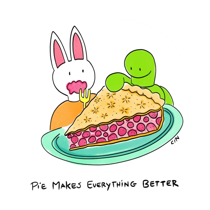 Bunny Daze Happiness - Pie Makes Everything Better by Bunny Daze's Artist Shop