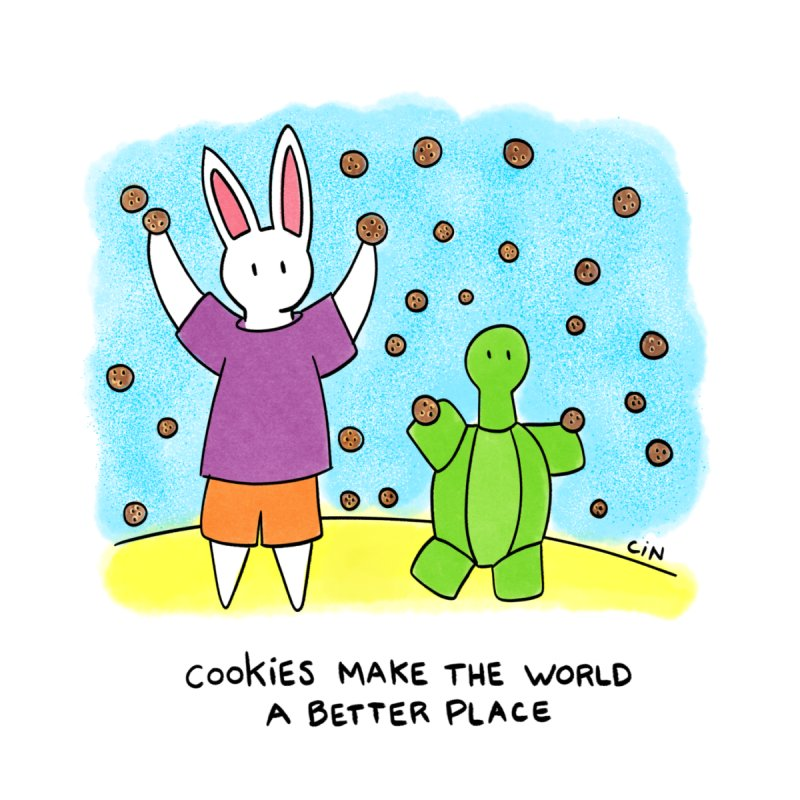 Bunny Daze Happiness - Cookies Make The World A Better Place by Bunny Daze's Artist Shop