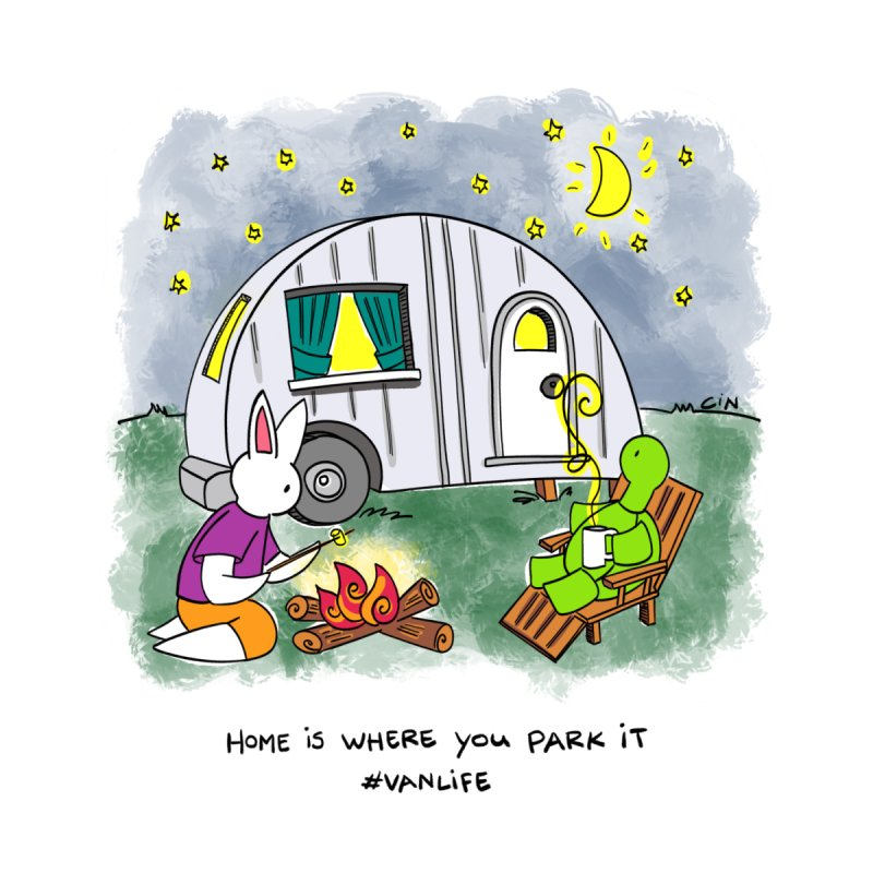 Bunny Daze Happiness - Home is where you park it #vanlife by Bunny Daze's Artist Shop