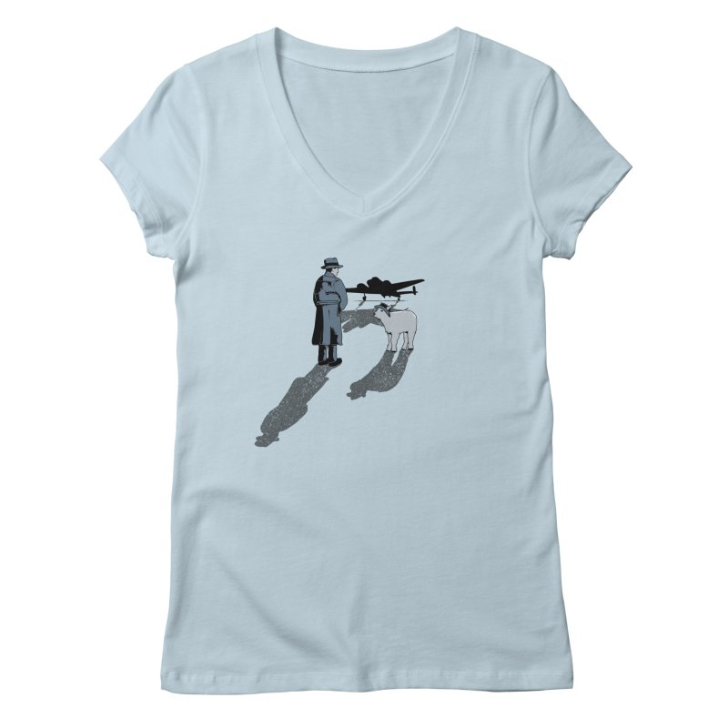 Here's Looking At You, Kid. Women's V-Neck by Bunny Dojo Shop