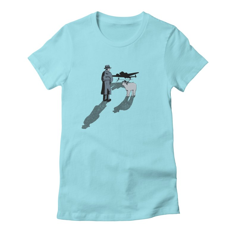 Here's Looking At You, Kid. Women's Fitted T-Shirt by Bunny Dojo Shop