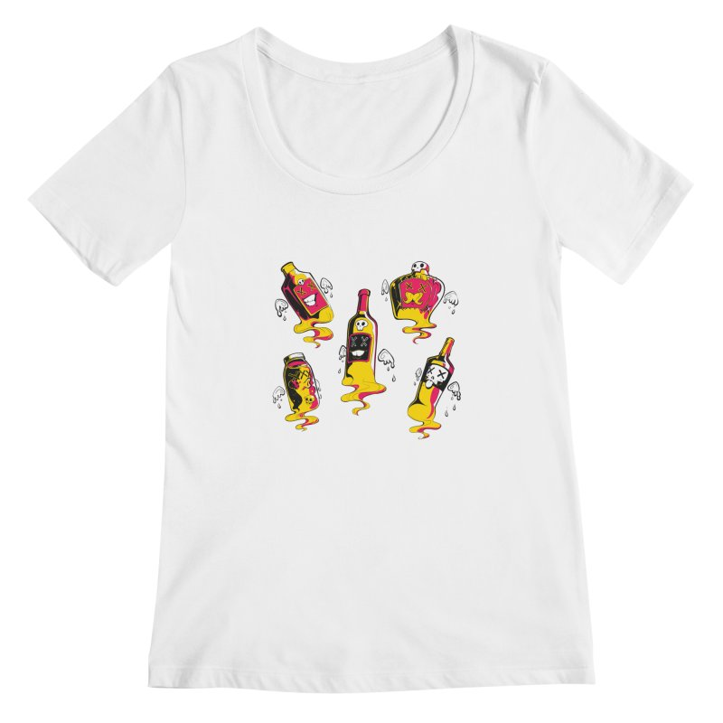 Kindred Spirits Women's Scoopneck by Bunny Robot Art