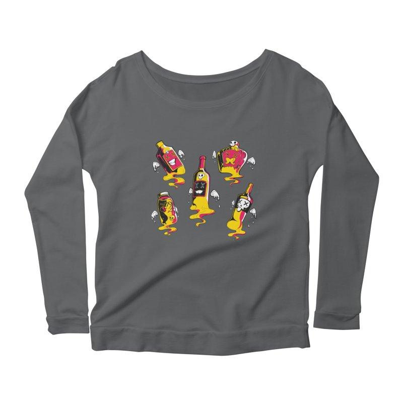 Kindred Spirits Women's Scoop Neck Longsleeve T-Shirt by Bunny Robot Art