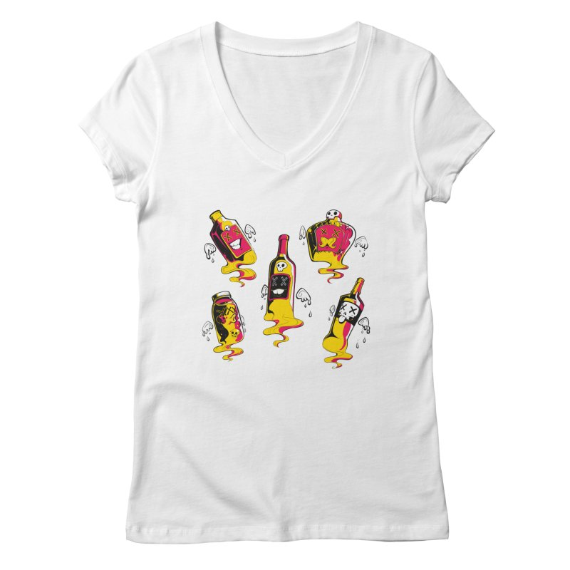Kindred Spirits Women's V-Neck by Bunny Robot Art