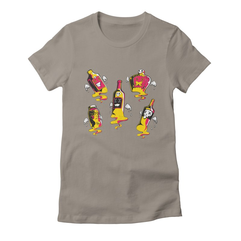 Kindred Spirits Women's Fitted T-Shirt by Bunny Robot Art