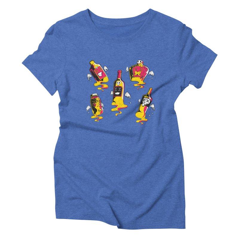 Kindred Spirits Women's Triblend T-shirt by Bunny Robot Art