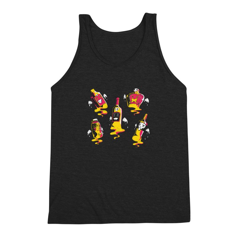 Kindred Spirits Men's Triblend Tank by Bunny Robot Art