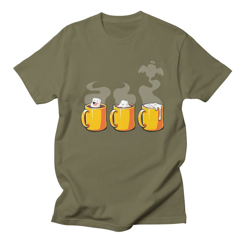 Cafe Diem Men's T-Shirt by Bunny Robot Art