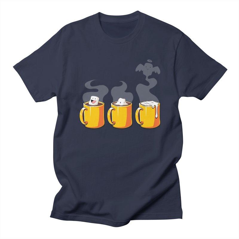 Cafe Diem Men's Regular T-Shirt by Bunny Robot Art