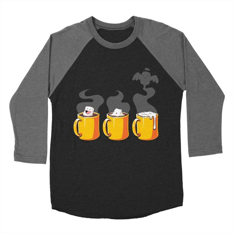 Cafe Diem Men's Baseball Triblend T-Shirt by Bunny Robot Art