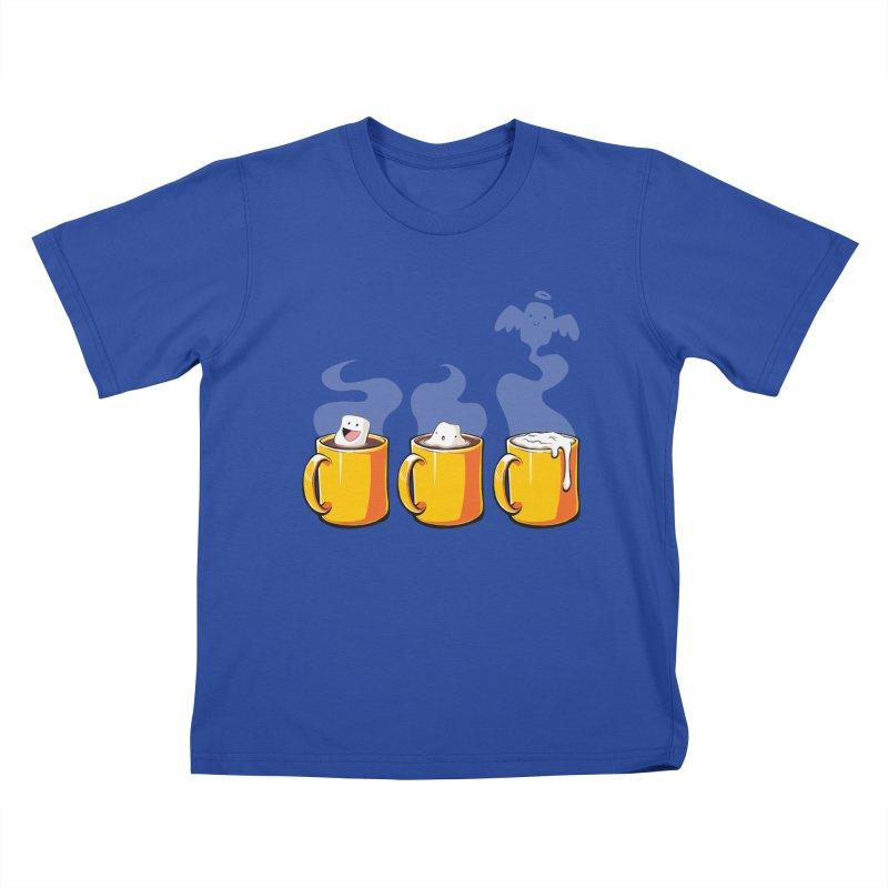 Cafe Diem Kids T-Shirt by Bunny Robot Art