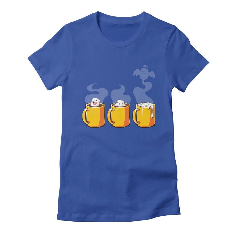 Cafe Diem Women's Fitted T-Shirt by Bunny Robot Art