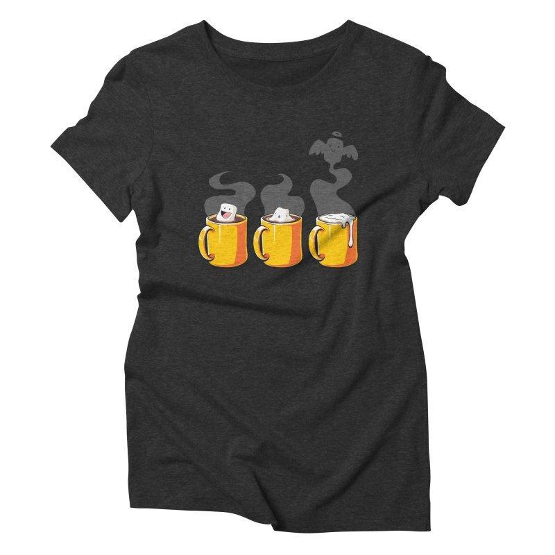 Cafe Diem Women's Triblend T-shirt by Bunny Robot Art