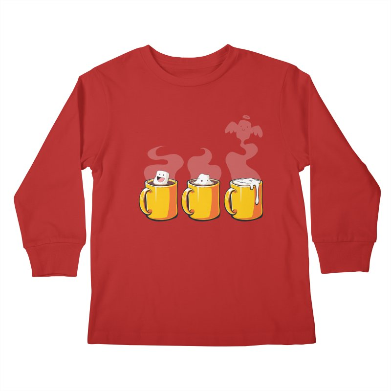 Cafe Diem Kids Longsleeve T-Shirt by Bunny Robot Art