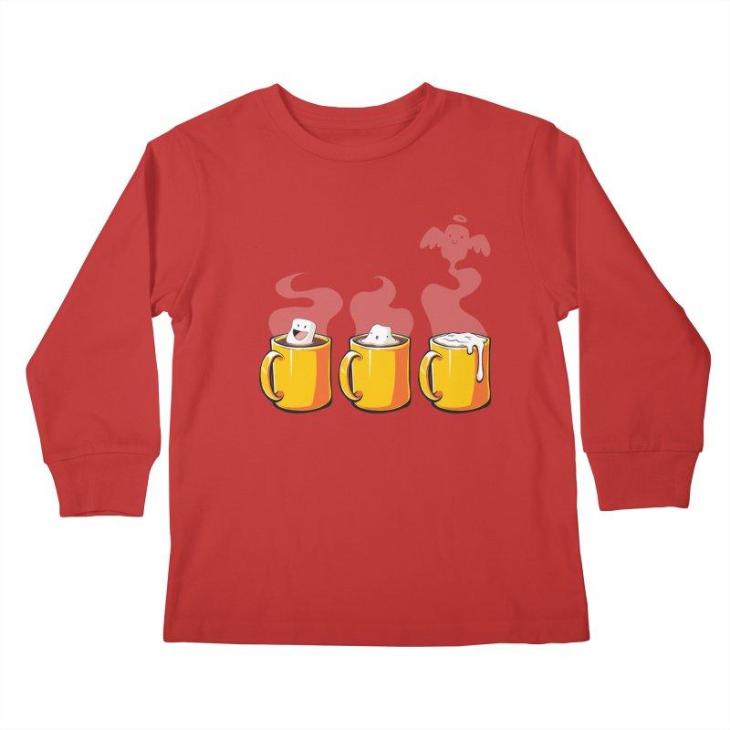 Cafe Diem Kids Longsleeve T-Shirt by Bunny Robot Art