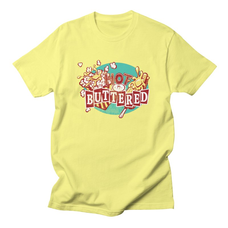Hot n' Buttered Men's Regular T-Shirt by Bunny Robot Art
