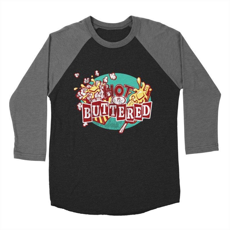 Hot n' Buttered Women's Baseball Triblend Longsleeve T-Shirt by Bunny Robot Art