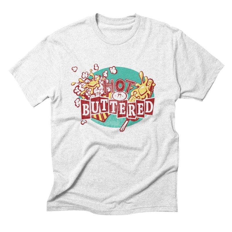 Hot n' Buttered Men's Triblend T-shirt by Bunny Robot Art