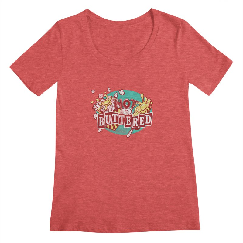 Hot n' Buttered Women's Scoopneck by Bunny Robot Art