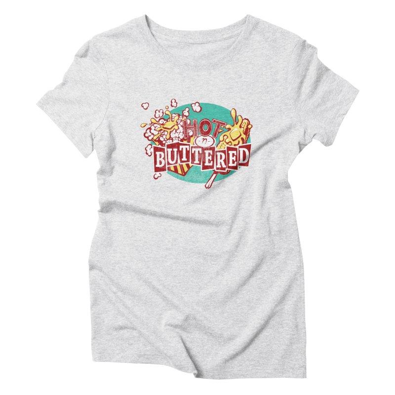 Hot n' Buttered Women's Triblend T-Shirt by Bunny Robot Art