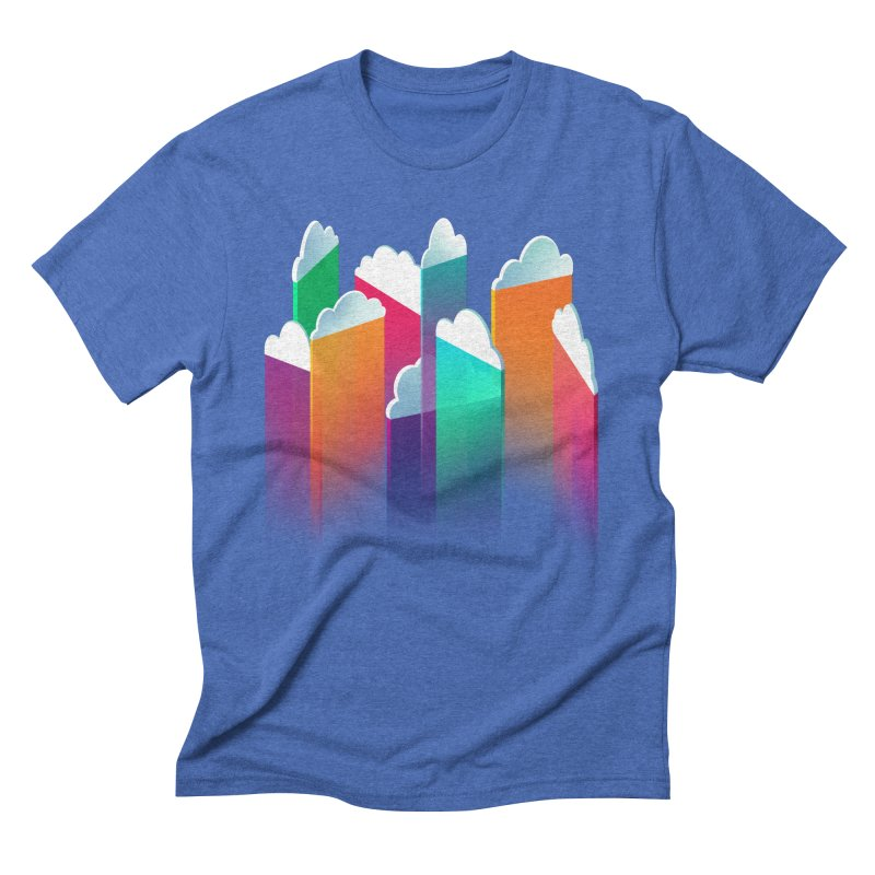 Light Rain Men's Triblend T-shirt by Bunny Robot Art