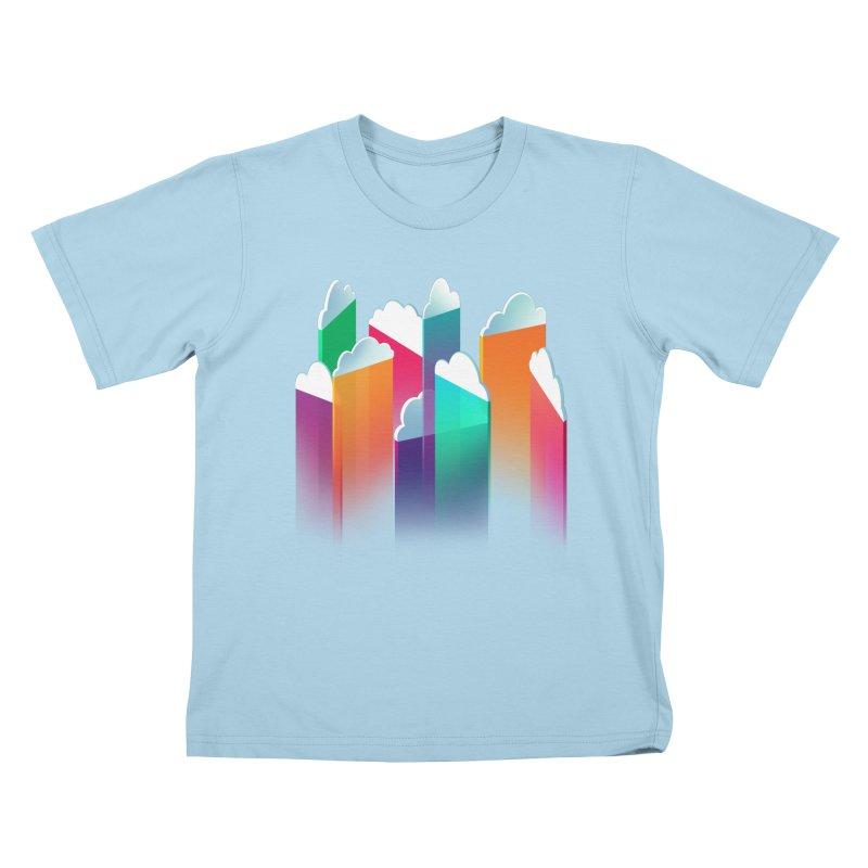 Light Rain Kids T-Shirt by Bunny Robot Art