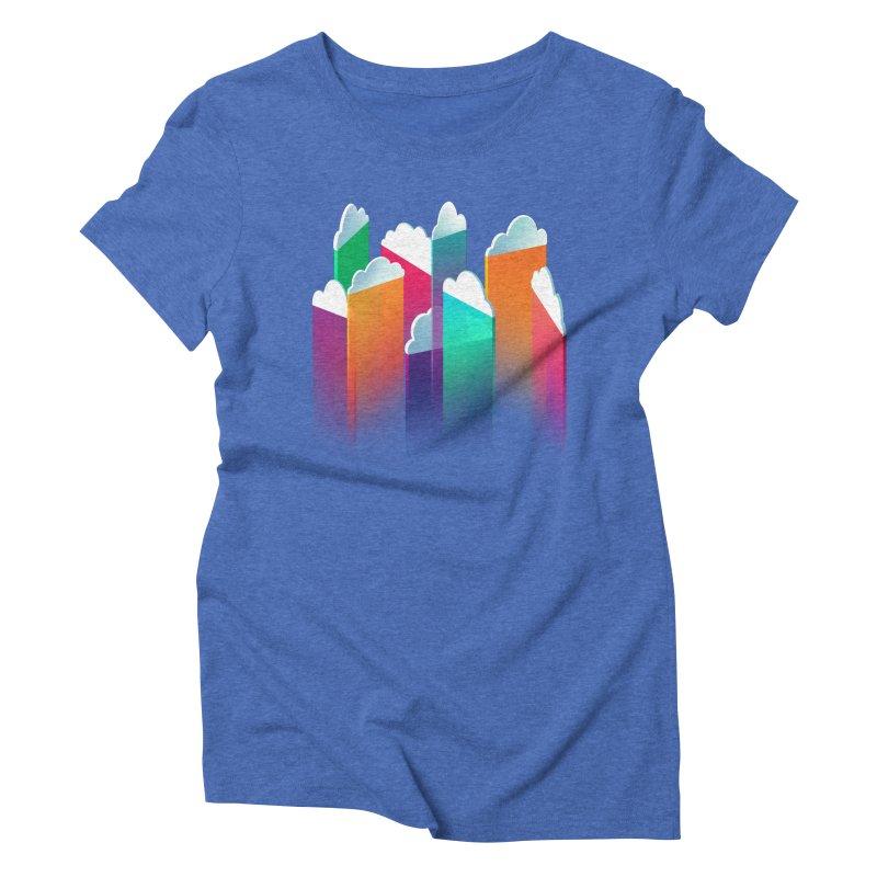 Light Rain Women's Triblend T-Shirt by Bunny Robot Art