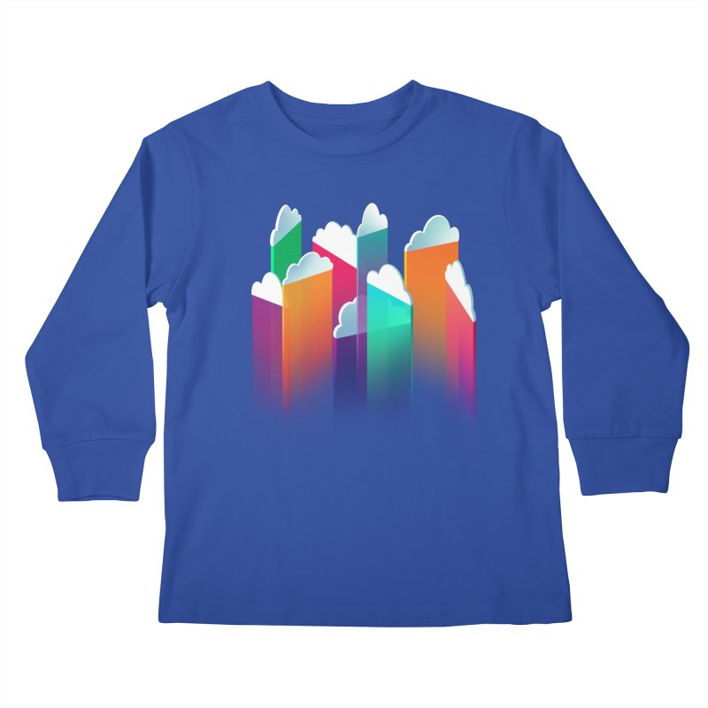 Light Rain Kids Longsleeve T-Shirt by Bunny Robot Art
