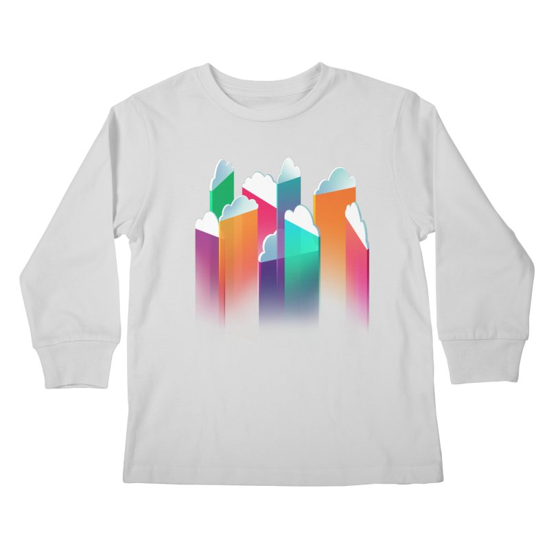Light Rain Kids Longsleeve T-Shirt by Bunny Robot Art