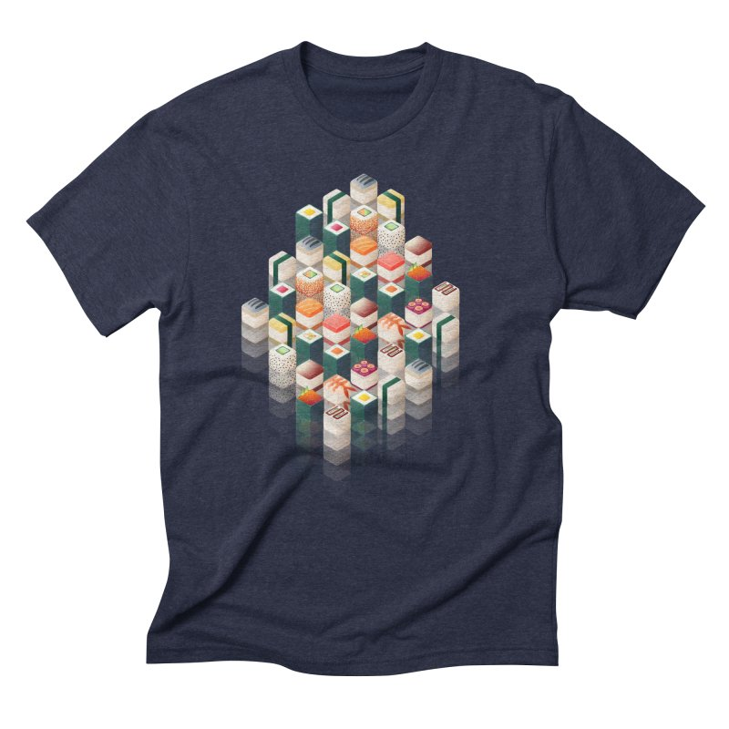 Maki Matrix Men's Triblend T-Shirt by Bunny Robot Art